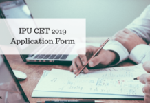 IPU CET 2019 Application Form