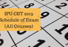 IPU CET 2019 Schedule of Exam (All Courses)