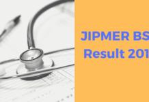 JIPMER BSc Result 2019