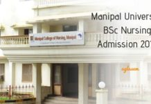 Manipal University BSc Nursing Admission 2019
