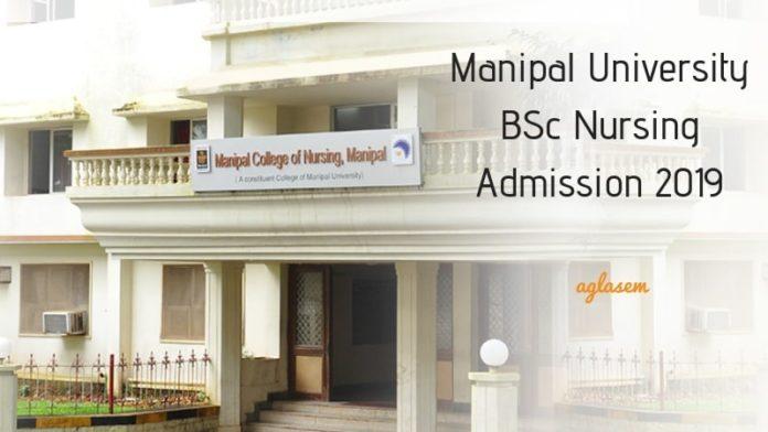 Manipal University BSc Nursing Admission 2019