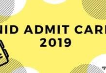 NID Admit Card 2019 Aglasem