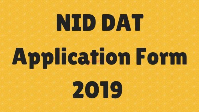 NID DAT Application Form 2019
