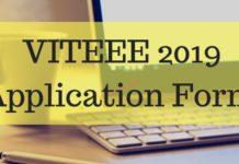 VITEEE 2019 Application Form