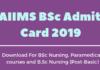 AIIMS BSc Admit Card 2019