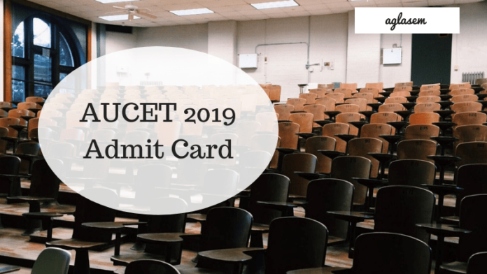 AUCET 2019 Admit Card