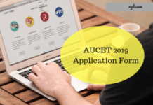 AUCET 2019 Application Form
