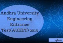 Andhra University Engineering Entrance Test(AUEET) 2019