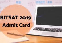 BITSAT 2019 Admit Card Aglasem