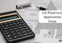 CA Final 2019 Application Form