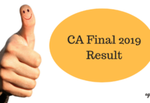 CA Final 2019 Result
