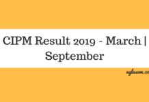 CIPM Result 2019