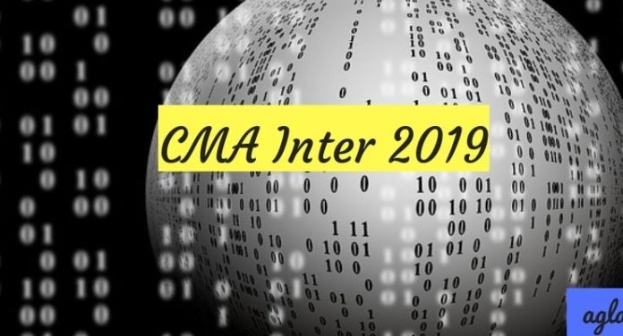 CMA Inter 2019 Dec Dates Out Application Form Exam