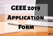GEEE 2019 Application Form Aglasem