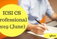ICSI CS Professional 2019 (June)
