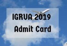 IGRUA 2019 Admit Card Aglasem