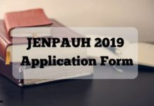 JENPAUH 2019 Application Form Aglasem