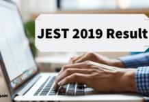 JEST 2019 Result