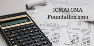 ICMAI CMA Foundation 2019