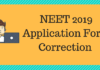 NEET 2019 Application Form Correction