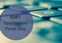 NMU Application Form 2019