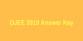OJEE 2019 Answer Key