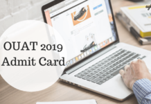 OUAT 2019 Admit Card