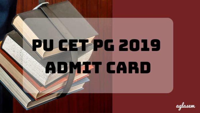 PU CET PG 2019 Admit Card Aglasem