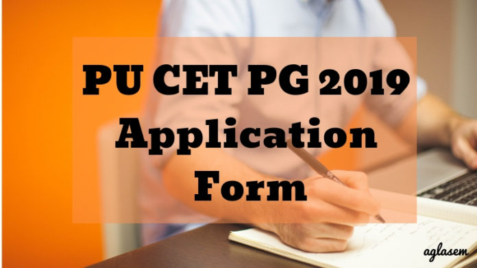 PU CET PG 2019 Application Form Aglasem