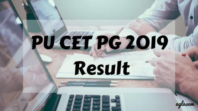 PU CET PG 2019 Result Aglasem