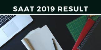 SAAT 2019 Result Aglasem