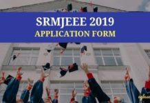 SRMJEEE 2019 Application Form