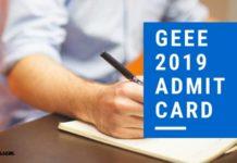 GEEE 2019 Admit Card Aglasem