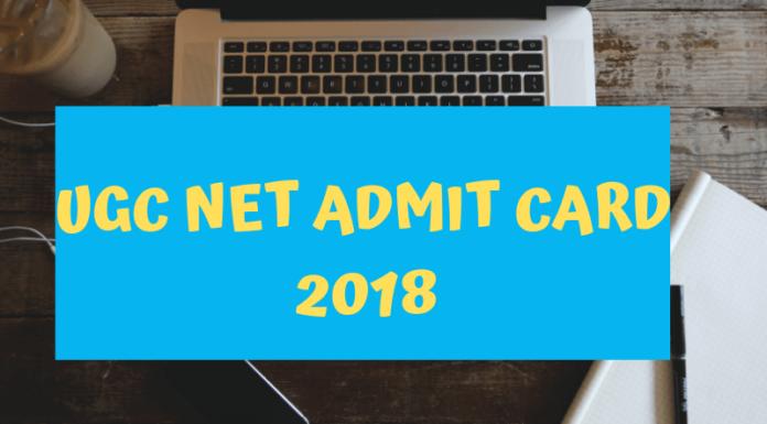 UGC NET Admit card 2018