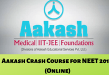 Aakash Crash Course for NEET 2019