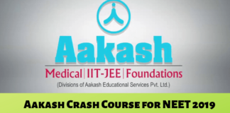 Aakash Crash Course for NEET 2019
