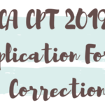 CA CPT 2019 Application Form Correction