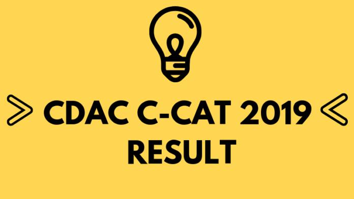CDAC C-CAT 2019 Result