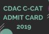 CDAC C-CAT Admit Card 2019