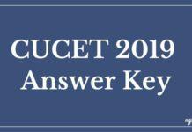 CUCET 2019 Answer Key Aglasem