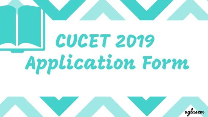 CUCET 2019 Application Form Aglasem