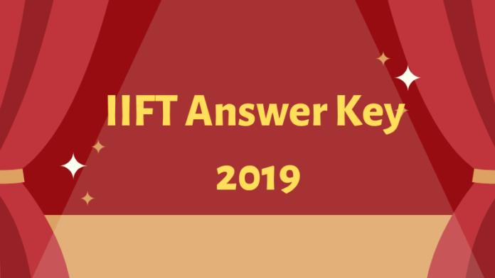 IIFT Answer Key 2019-