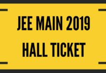 JEE Main 2019 Hall Ticket