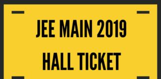 JEE Main 2019 Hall Ticket