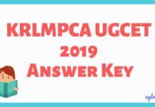 KRLMPCA UGCET 2019 Answer Key Aglasem