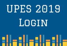 UPES 2019 Login