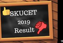 SKUCET 2019 Result