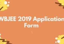 WBJEE 2019 Application Form