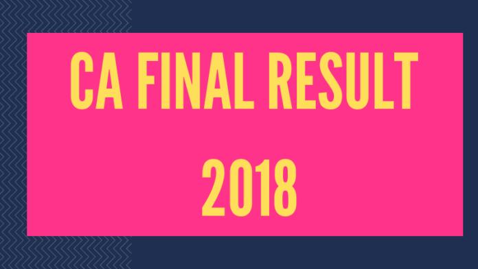 CA Final Result 2018