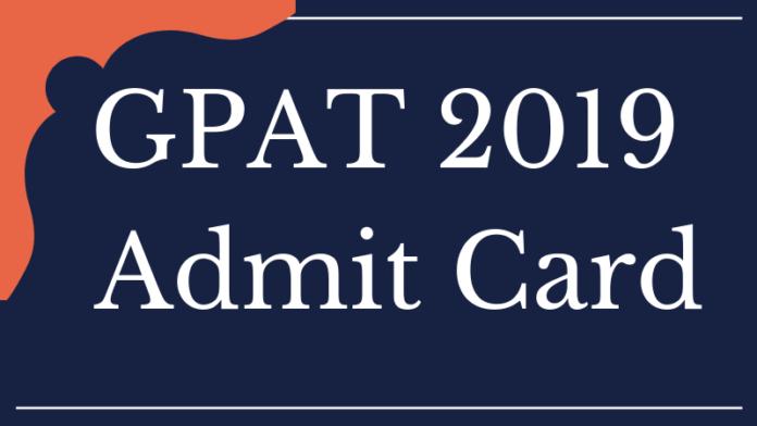 GPAT 2019 Admit Card